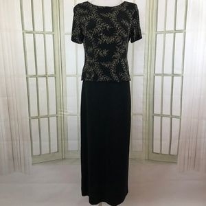 Vintage Jessica Howard Slinky Evening Dress Black